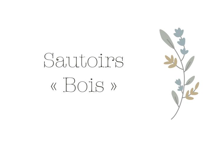 SAUTOIRS BOIS